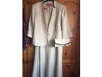 Mother of The Bride/Groom Special Occassion Dress Jacket Handbag Wedding Outfit Size 20