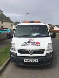 Vauxhall movano recovery truck 2.5 litre diesel 2004