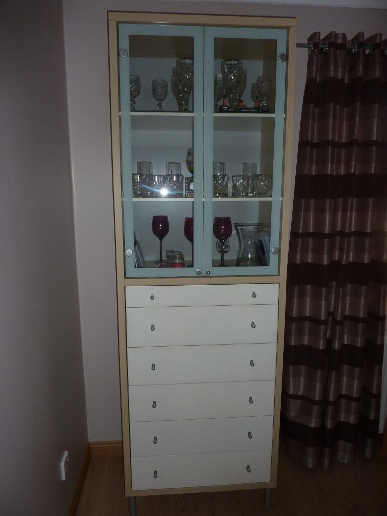 Ikea Magiker Display Cabinet In Birch Amp White In Paisley