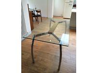 Glass Top Chrome Leg John Lewis Dining Table