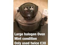 Halogen microwave oven