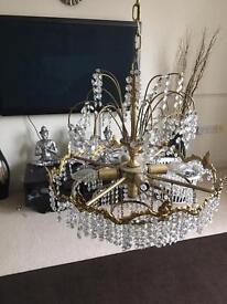 Gold 4 light chandelier