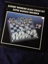 Drinking glass chess set