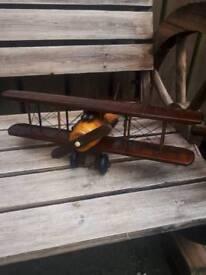 New wooden model aeroplane