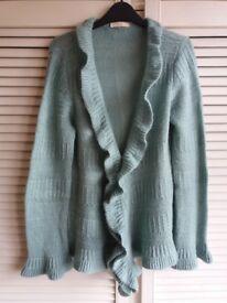 Light Green Knitted Cardigan Top UK 14 Ladies' Women's