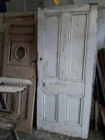 7 Foot Victorian Doors with Original Paint