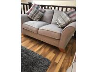 3 & 2 Seater Sofa for sale with matching footstool