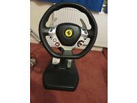 Excellent used Thrustmaster Ferrari Vibration GT Cockpit 458 Italia Edition for Xbox 360