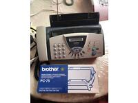 BROTHER - FAX-T104 UK A4 THERMAL FAX MACHINE, TELEPHONE, COPIER