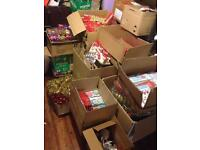 Huge joblot of new Christmas stock. Tinsel/bows/decorations