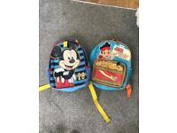 Mickey Mouse and Jake and the neverland pirate kids rucksacks