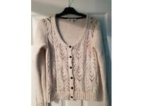 Fat Face Designer Womens Cardigan Size 14