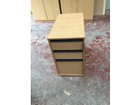 BEECH OFFICE DRAWERS