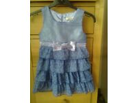 Pumpkin Patch dress, blue flowers, cost £26, never worn, 24 months, excellent condition
