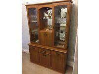 Teak style dresser/display cabinet