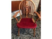 Chair wooden lovely carver style