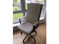 IKEA MALKOLM - Beige Desk Chair