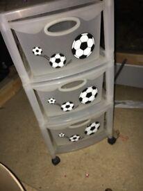 3 drawer plastic storage