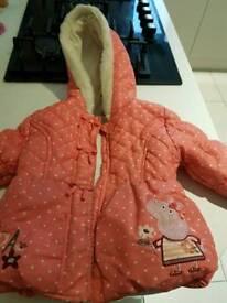 Peppa pig girls coat