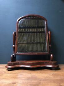 Victorian Antique Mahogany Dressing Table Mirror
