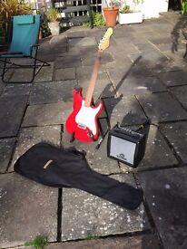 Electric Guitar (Encore Blaster Series 93) & Amplifier (Carlsboro Kickstart 10)