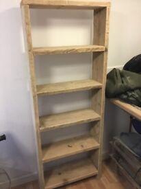 Reclaimed Scaffold Board bookcase