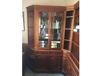Display cabinet & External & Internal Corners and a bookcase