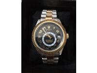 Rolex Sky Dweller Silver/Gold, Automatic Watch, Metal Strap