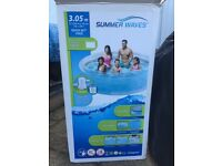 Large paddling pool with pump