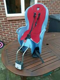 Rear halfords childrens bike seat, very good condition.