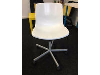 White Swivel Computer Chair adjustable height . can deliver