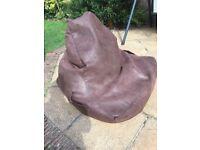 Bean bag chair brown
