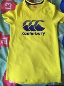 Yellow Canterbury T-shirt age 10 yrs