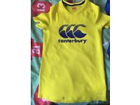 Yellow Canterbury T-shirt age 10 yrs