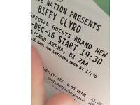 1 x Biffy Clyro Ticket - Birmingham