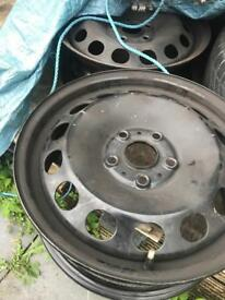 VW 16 inch 2x steel wheels (5x112)