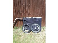 Double buggy child bike trailer