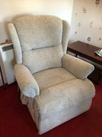 Electric chair & 2 seater sofa