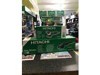 HITACHI ANGLE GRINDER TWIN PACK 230MM & 115MM 110v + FREE BLADES