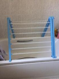 Clothes airer over bath
