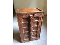 Old Wooden Cupboard / Cabinet / Hand Carved / Dining Room / Lounge / Lamp Stand