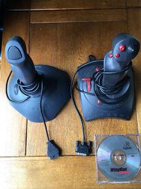Two Logitech Wingman Joysticks - used very little
