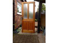 Exterior double glazed hardwood door including handles,safety lock,keys,bolt and hinges