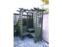 Wooden Garden Trellis Pergola Style Arbour