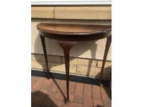 H Shaw of London Demi Lune table