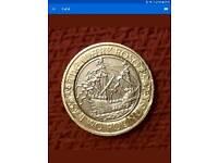 Rare 2 pound coin