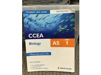 AS & A2 CCEA Biology Revision books