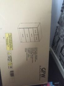 Brand new in box 3+2 drawers in white