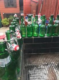 Grolsch bottles home brew beer ale 26 bottles