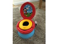 Mickey Mouse cheering potty